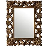 A.R Handicraft Decorative Mirror (Oval Finish : Glossy) (Black)