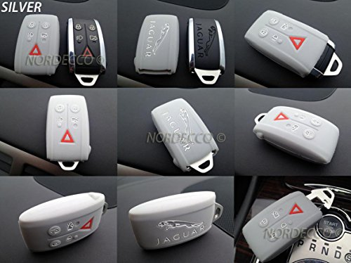 quality-silicone-5-button-smart-keyless-fob-protector-case-jaguar-xk-xf-se-xfr-silver