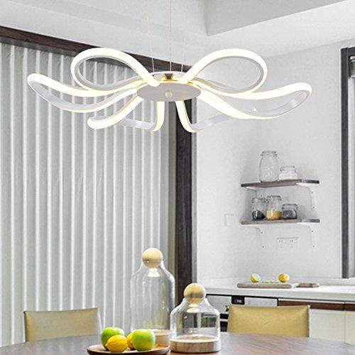 Moderne LED Kronleuchter Kreative Kunst Romantische Schmetterling Blume Ribbon Kronleuchter Deckenleuchte (Blumen Ribbon)