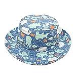 Superora Sonnenhut Hat kids Kinderhut UV-Schutz Strandhut Baumwolle Sommermütze für Kinder Junge mit Fisch Druck