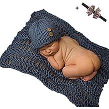 Malloom® Recién Nacido bebé equipo infantil ganchillo de punto tapa disfraz Fotografía Proposición