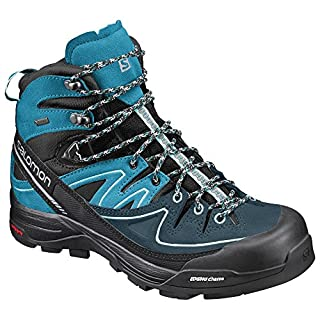 Salomon Damen X Alp Mid Ltr GTX W Trekking-& Wanderstiefel, Schwarz (Black/Hawaiian Ocean/Aruba Blue 000), 37 1/3 EU