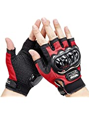 AutoKraftZ Half Cut Glove/Bike Glove/Racing Gloves/Driving/Biking/Motorcycle Gloves
