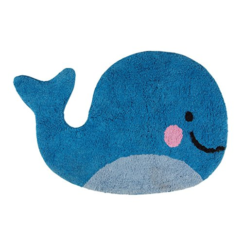 Happy Whale Cotton Rug Large Bath Shower Bedroom Lounge Mat