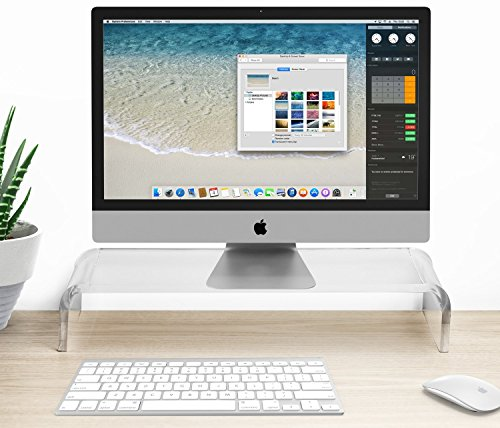 Halter acrílico soporte de monitor/monitor Riser–20,75W x 3.675h X...