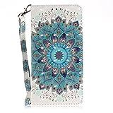 vingarshern Hülle für Oukitel C5 Schutzhülle Etui Tasche Klappbares Magnetverschluss Lederhülle Flip Case Handytasche Oukitel C5 Hülle Leder Brieftasche MEHRWEG(Mandala)