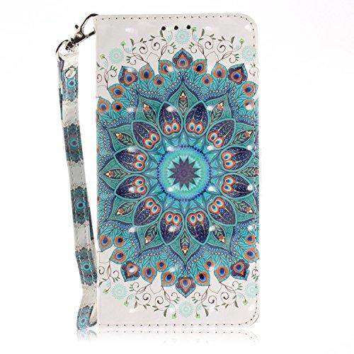vingarshern Hülle für DOOGEE Y300 Schutzhülle Etui Tasche Klappbares Magnetverschluss Lederhülle Flip Case Handytasche Doogee Y300 Hülle Leder Brieftasche MEHRWEG(Mandala)