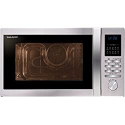 Sharp R-822STWE Countertop Combination microwave 25L 900W Stainless steel microwave - microwaves (Countertop, Combination microwave, 25 L, 900 W, Buttons, Rotary, Stainless steel)