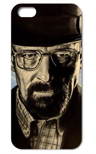 NdB 1360 - Cover Case Custodia per iPhone 4 e 4S Stampa Walter White Heisenberg Nera BrBa - Rigida