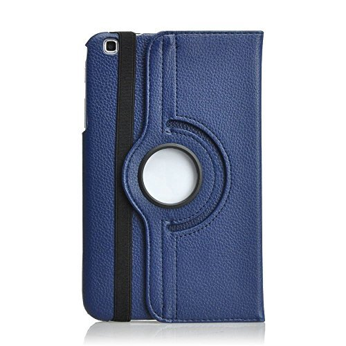 Moonmini 360 Rotation PU Leather Protective Case Cover Pouch for Samsung Galaxy Tab 3 8.0 SM-T310 SM-T311 SM-T315 Tablet Book Cover with Integral Support Function + Stylus Pen + Screen Film - Navy Blue  available at amazon for Rs.2149