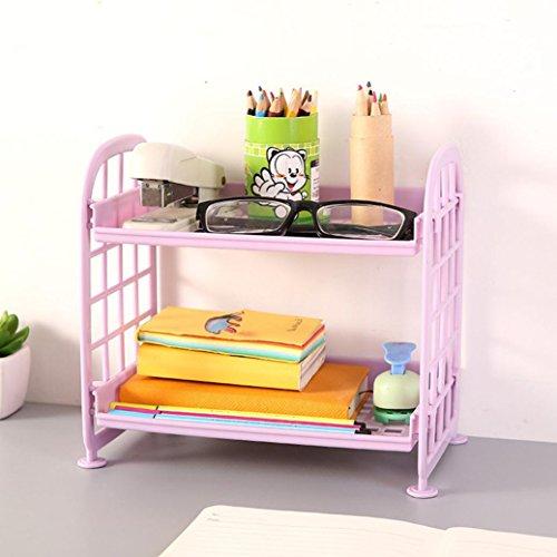 Regal, Aufbewahrung von Mamum, doppelschichtig, Kosmetik, Kunststoff, zwei Schichten, für Küche/Badezimmer, Organizer, Kunststoff Einheitsgröße a