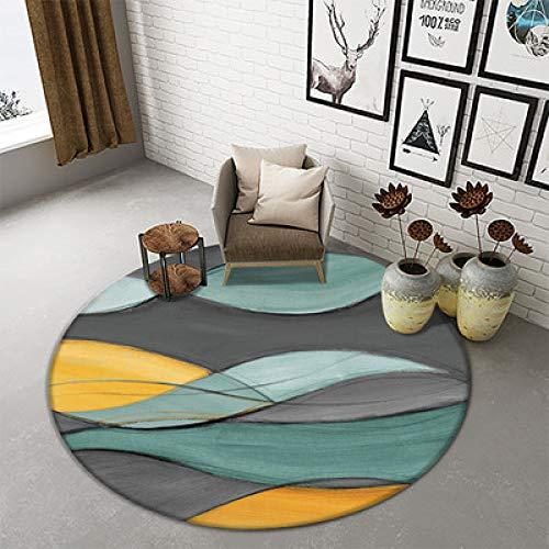 LEELFD Einfacher Moderner Teppich Wohnzimmer Couchtisch Nordic IKEA Studie Schlafzimmer Nacht Hängenden Korb Computer Stuhl Runde Auflage