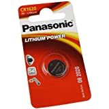 Ollytrading Panasonic CR1620 Batterie pile lithium bouton 3 V remplace DL1620 BR1620 KCR1620 LM1620