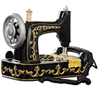 FACAIG Máquina de coser de resina negra Telephone-Nostalgic europeos antiguos Retro Pastoral Home Office