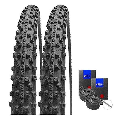 Set: 2 x Schwalbe Smart Sam Trekking Cross Reifen 47-622 / 28x1.75 + Schwalbe SCHLÄUCHE Autoventil