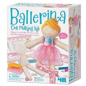 4m - Kit de couture pour fabriquer ta poupee Danseuse Ballerine 4M