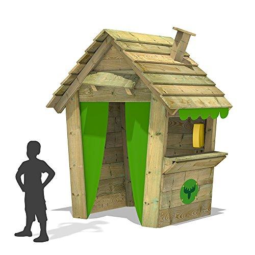 FATMOOSE-Casetta-bambini-PandaPark-Pro-XXL-casa-dei-bambini-giardino-giochi-in-legno-con-camino-finestra-e-contatore