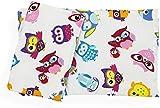 "Dolls Teddy Quilt /Duvet Pillow Bedding Set Fits Up to 46cm 18"" Doll Pram /Cot (pink owl)"