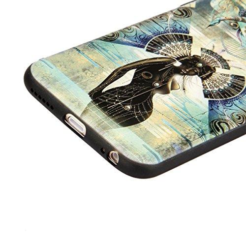iPhone 5/5S/SE Custodia,Ukayfe Premium Transparent Dipinto Chiaro Case Cover Bumper Copertina Morbido in Silicone Gel e TPU pelle,Trasparente Ultrasottile 3D Fashion Fiore Paesaggio Case Verniciato Am pavone Ragazze