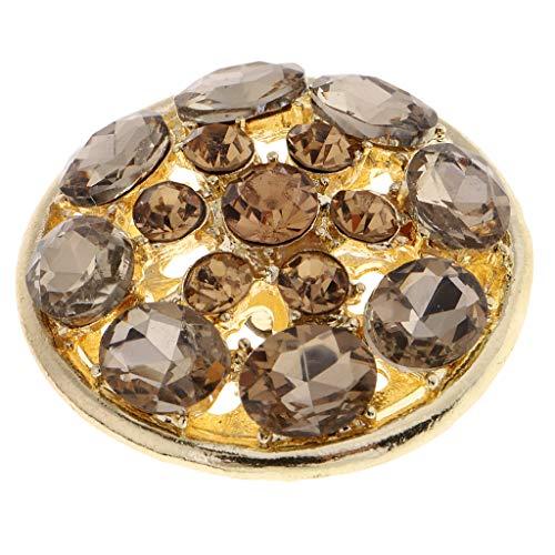 Hellery Bling Round Crystal Strass Diamante Button Zum Nähen Verschönerung 38mm -