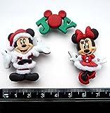 Zierknöpfe zum Basteln, Disney Mickey und Minnie an Weihnachten, von Dress It Up.