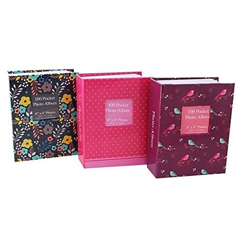 Tallon 6x4 Designer Photo Album with 100 Pockets