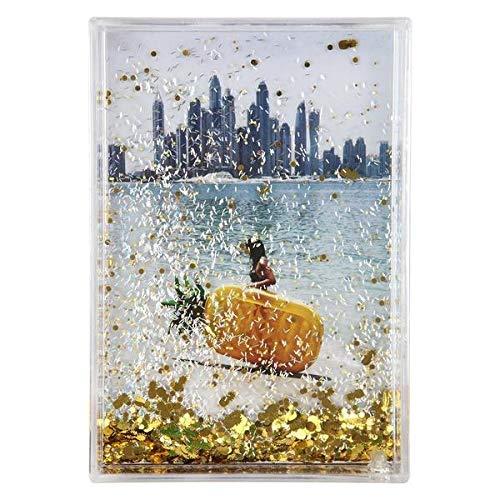 SunnyLIFE Dekorative Rechteck/Quadrat Glitzer-Bilderrahmen Rectangle Ananas