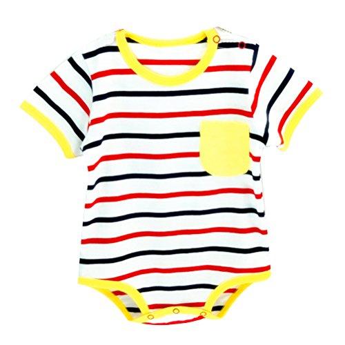 Zhhlinyuan Newborns Cotton Jumpsuit Unisex Baby Boy Girl Short Sleeve Bodysuit