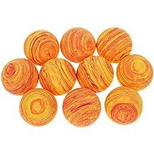 Gazechimp 10 Pcs de pelota de Golf de Esponja Ligero Portatíl Accesorio Deportivo - naranja