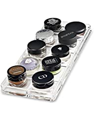 Acrylic Paint Pot / Cream Shadow Organiser & Beauty Care Holder Provides 10 Space Storage | byAlegory (Clear) Makeup Organizer