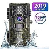 Wildkamera Fotofalle 20MP Native 1080P Full HD mit Bewegungsmelder 20M Nachtsicht Wasserdichte Jagdkamera Überwachungskamera mit 2,4 Zoll LCD Display (H4-1)