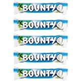 Bounty Chocolate Bars 57g (Pack Of 5)