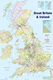 HUGE LAMINATED / ENCAPSULATED Map Of The UK British Isles GB Road Map POSTER Measures 36 x 24 inches (91.5 x 61 cm)