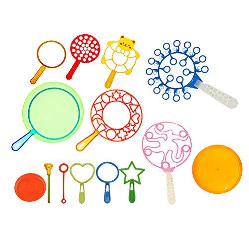 LIOOBO 15pcs Blasen Bubble Wands Große Bubble Maker Zauberstäbe Sticks Spielzeug Sets für Kinder Jungen und Mädchen