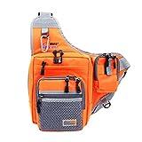 Lixada 32 * 39 * 12CM Angeln Tasche Wasserdichte Mehrzweck Leinwand Angelrolle Köder Gerät Beutel (Orange)