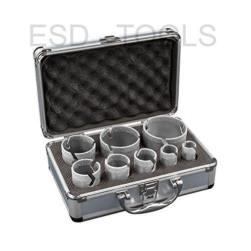 Premium Fliesenbohrkronen Set Vakuum 8-teilig -