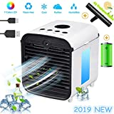 Nifogo Air Portable Cooler - Mobile Air Conditioners, 3 in 1 Mini Personal Space Cooler & Humidifier & Purifier with 7 Colors LED Lights, Leakproof, New Filter