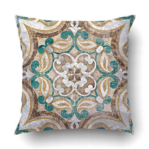 Überwurf-Kissenbezug Fall für Schlafzimmer Couch Sofa Home Decor Blau Watercolor marokkanischen Muster, Quadratisch 40,6x 40,6cm Marokkanische Elektrisch 18x18 Multi 6 ()
