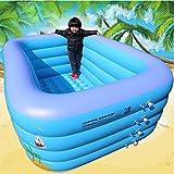 LZTET Rechteckige Aufblasbare Familien-Pool-Badewannen-Dickere Pool-Garten-Freibad-Spiel-Pool-Planschbecken,ElectricPumpStandardPackage