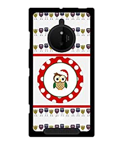 Fuson 2D Printed Owl Designer back case cover for Nokia Lumia 830 - D4441