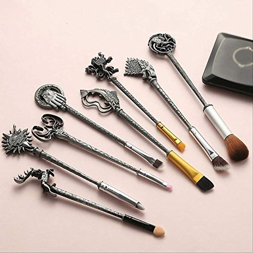 YMKMM Make-Up-Tools Make-Up Pinsel Set Soft Synthetic Kit Mit Puderkontur Lidschatten Augenbrauen Lippen Pinsel United States Antique Silver -