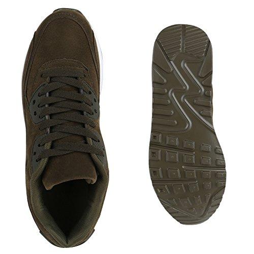 Herren Runners Sportschuhe Sneakers Damen Trendfarben Laufschuhe Olivgrün Weiss Unisex dq7wxO