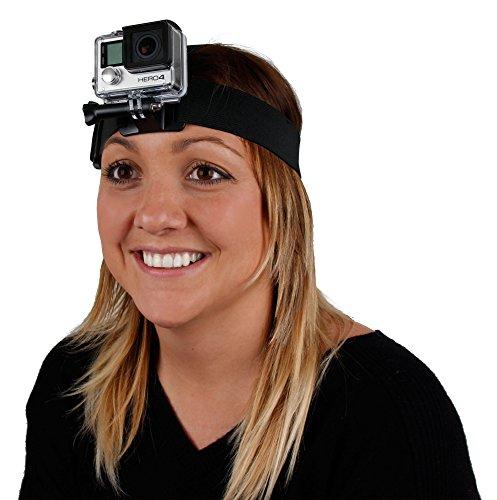 Wasserabweisender Kopfgurt für Rollei Actioncam 630   625   610   530   525   510   426   416   420   410   400   300) Action Kameras Schwarz