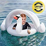 ONMET Flotador Niños Flotador Bebe con Parasol, Flotador Anillo Baby Float Flotadores para 3 Meses - 4 Años Bebes Infantil Niño Niña, Hinchable Bebe Flotadores Niños Flotador Hinchable