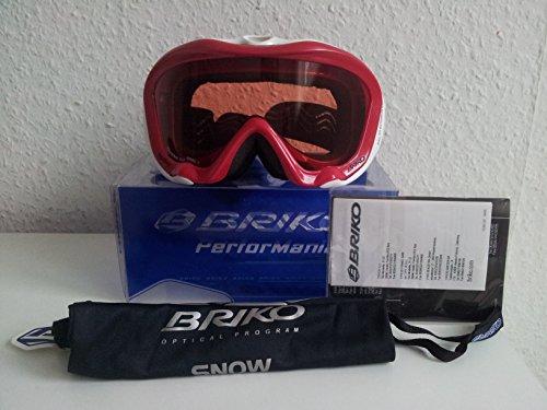 BRIKO Occhiali da sci THRAMA Plus strato 3occhiali da snowboard rosso/bianco-Snow Goggles-.c2015604va