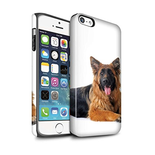 STUFF4 Matte Harten Stoßfest Hülle / Case für Apple iPhone 7 Plus / Bull Terrier Muster / Hund/Hunde Kollektion Deutsch Shepherd
