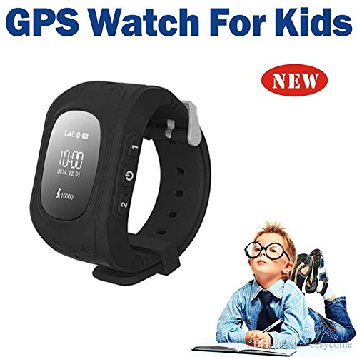 Kids GPS tracker Wrist Smart Watch with calling and multi-functions ( Children Safe Security/ SOS Surveillance/Pedometer / Remote Power Off/Alarms Anti-lost for Children) and Sim-card support Compatible with all Smartphones