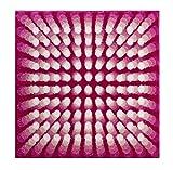 Grund KARIM RASHID Exklusiver Designer Badteppich 100% Polyacryl, ultra soft, rutschfest, ÖKO-TEX-zertifiziert, 5 Jahre Garantie, KARIM 07, Badematte 90x90 cm, pink