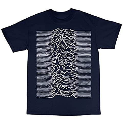 Unknown Pleasures Inspired T-Shirt in 13 Farben, Marineblau, XX-Large