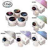 LILIMO 5-Farben-Aurora Rainbow Glossy Lidschatten Gel Gesichts Highlighter Palette Chameleon Gesichts Highlights Powder Shiny Cream